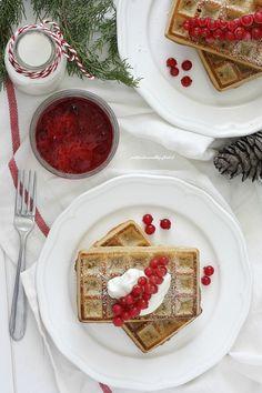 Waffles integrali allo yogurt greco