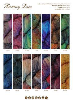 Botany Lace : Araucania Yarns : Designer Yarns