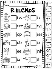 R Blend: Four In A Row | Student, Reading and Words