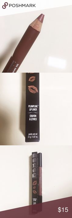 Buxom Pumpline Lip crayon Liner in undercover Brand new with box and unused Buxom pumpline lip liner. A plumping lip liner with versatility to define, shape, and fill in lips—plus, a built-in brush to blend and contour. buxom Makeup Lip Liner
