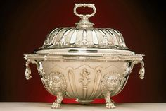 Soup Tureen. English. Benjamin Godfrey, about 1735. Silver