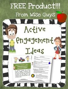 This FREE 5-page document includes ideas and strategies to promote active engagement of your students in the classroom. We have used all these strategies in our classes and have had great success. Enjoy!%0A%0AVisit Our Store%0AVisit Our Blog%0A Active Engagement, Student Engagement, Engagement Ideas, Free Activities, Educational Activities, Learning Activities, 7th Grade Classroom, Classroom Ideas, Cooperative Learning Strategies