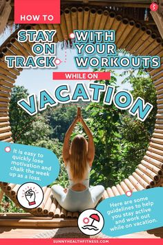 You have been so dedicated and disciplined to your workout routine. Now you are headed out of town and are not going to lose focus and derail your progress. In this article, I will outline guidelines to help you stay active and work out while on vacation. #sunnyhealthfitness #vacation #summervacation #vacationworkout #summerworkout #workout #workoutvideos #workouttips #summerworkouttips #hotelworkout Health And Fitness Articles, Fitness Tips, Health And Wellness, Health Fitness, Vacation Workout, Hotel Workout, Stay On Track, Stay Active, Workout Videos