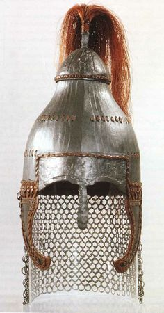 Bulgarian Helm- Kahn Asparuh one is more Asian looking like and the Khan Krum one is more or less Magyar-Hungarian,(Maybe because Khan Krum used to rule most of Pannonia Both of them probably have turk-mongol origin-but it's hard to say definitively. Drow Male, Types Of Armor, Vikings, Helmet Head, Viking Reenactment, Knight In Shining Armor, Early Middle Ages, Turkish Art, Arm Armor