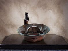 George Bernard, Bernard Shaw, Glass Vessel Sinks, Round Glass, Serving Bowls, Glass Art, Kitchen Ideas, Sculpture, Mirror