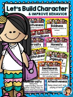 Character Education Activities with Posters, Worksheets, Awards, and More Character Education Mega Set Traits) Values Education, Character Education, Education Posters, Health Education, Physical Education, Behavior Management, Classroom Management, Positive Character Traits, Positive Traits