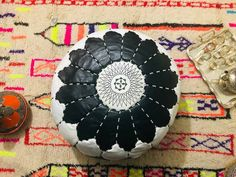 Moroccan pouf leather pouf, pouf ottoman bohemian pouf Kdays Ostrich Faux Leather Pillow Cover Decorative For Couch Throw Pillow Case Moroccan Leather Pouf, Moroccan Pouf, Throw Pillow Cases, Pillow Covers, Leather Pillow, Pouf Ottoman, Ottomans, Art Deco, Anniversary