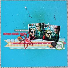 Layout by Krista Wells, using some elements from Paperie Club Kit (love those wooden flowers!)