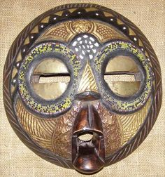 African MASK | African Masks - Baluba Mask 3 - Front - Click for a more detailed view ...