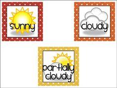 First Grade FUNdamentals!: Weather Chart FREEBIE!