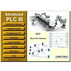 PLC III Virtual PLC Programming and Simulator Software Ladder and Logic Function Easy Automation Electrical Wiring Colours, Distributed Control System, Ladder Logic, Robot Programming, Cnc, Computer Projects, Electronic Kits, Cool Tech Gadgets, Programing Software