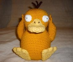 Psyduck crochet pattern (plus TONS of other free pokemon patterns)