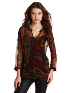Lucky Brand Women's Carnival Paisley Top - http://clothing.wadulifashions.com/lucky-brand-womens-carnival-paisley-top/
