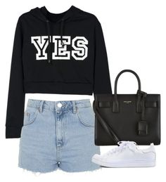 """""""Untitled #4613"""" by eleanorsclosettt ❤ liked on Polyvore featuring Topshop, Yves Saint Laurent and Jeffrey Campbell"""