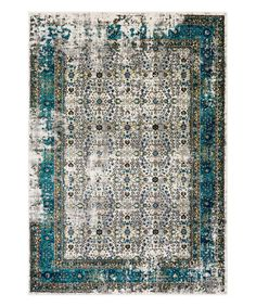 Look at this #zulilyfind! Blue Pepin Rug #zulilyfinds