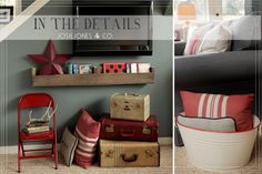 Benjamin Moore, Smokey Mountain--this room is awesome too!