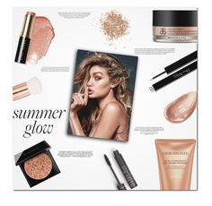 """""""Want to wake up and see your face and remember how good was last night."""" by kristinadyomina ❤ liked on Polyvore featuring Bobbi Brown Cosmetics, Givenchy, Lancôme, Arbonne, Christian Dior, Topshop, Jouer and Kershaw"""