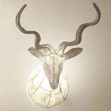 paper mache animal lamp