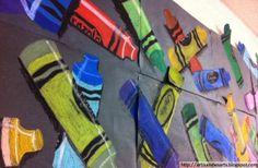 artisan des arts: Collaborative crayon art - grade 5/6