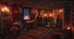 Medieval Fantasy Cottage Interior