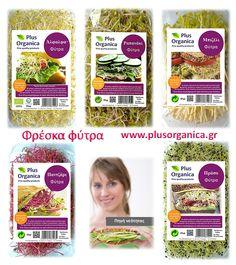 Φρέσκα φύτρα Plus Organica Φυσική πηγή νεότητας κ ευεξίας! Ένα τέλειο συμπλήρωμα για σάντουιτς & σαλάτες!