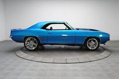 1969 Chevrolet Camaro Z/28 Blue pro-touring 69. rushforth wheels livewire split 5 star billet 18/20 Lemans Blue