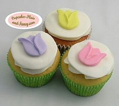 Tulip Easter cupcakes