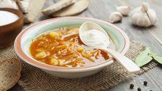 Šajtľava - oravská kapustová polievka   Recepty.sk C'est Bon, Coleslaw, Cheeseburger Chowder, Thai Red Curry, Fruit, Ethnic Recipes, Food, Comme, Simple
