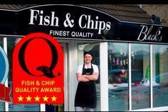 "(PHOTO: Black's Facebook) The National Fish and Chip Awards have revealed the three finalists for the National Federation of Fish Friers (or NFFF or short) Quality Award ""Champion"" Award.  Black's Finest Fish & Chips in Lancaster, Lancashire"