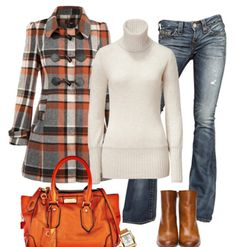 Plaid and pumpkin