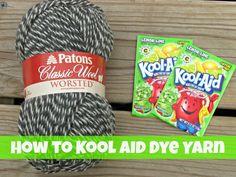 How to Kool Aid Dye Yarn- cool tutorial. Looks like a good inexpensive way to go.