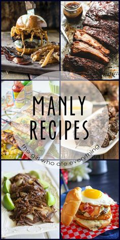 What do loaded burgers, steaks and messy food all have in common? They are all manly foods! And when I say manly I mean foods that the men in our lives most undoubtedly love to sink their teeth into! In honor of Father's Day I've rounded up this delicious collection of Manly Recipes. In case …