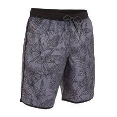 Bidarte Freeleaf szürke színű férfi fürdőnadrág Decathlon, Gym Men, Trunks, Swimming, Swimwear, Fashion, Drift Wood, Swim, Bathing Suits