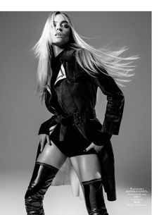 Martha flaunts her legs in thigh-high Dior boots for L'Officiel Malaysia's Oct issue
