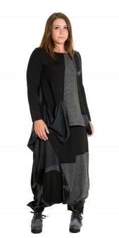 Alembika Black and Grey Mix Sarouel Trouser - Alembika from idaretobe.com UK