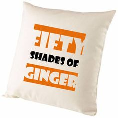 Fifty Shades Of Ginger Cushion Cover