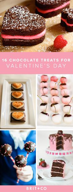 Whip up some chocolate treats on Valentine's Day with these recipes.
