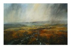 Kristan Baggaley Clearing Shower Over Kinder Scout 150cm x 100cm