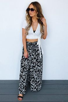 You Got Me Wrapped Up Crop Top: White