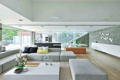 Casa Sustentável Como Tributo à Tecnologia Moderna-sala de estar