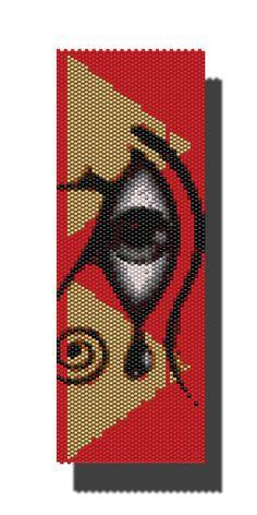 Egyptian PEYOTE Pattern Beaded Bracelet or by DragonsLairPatterns, £3.95