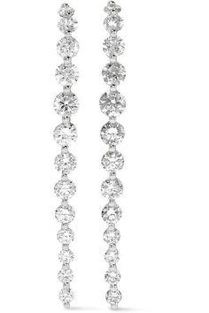 4382f8ec5 Anita Ko - Long Cascade 18-karat White Gold Diamond Earrings White Gold Diamond  Earrings