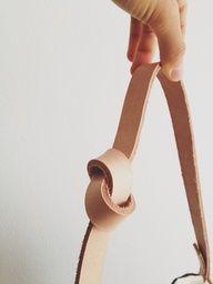 DIY Simple Purse Strap For A Canvas Bag