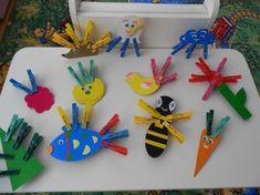 Развивающая игра «Веселые прищепки» для младших дошкольников - Для воспитателей детских садов - Маам.ру