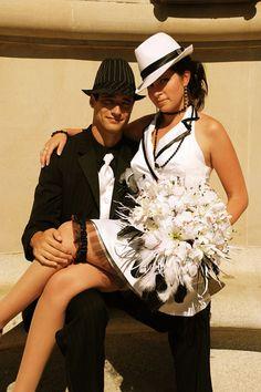 Modern Weddings: Amber and Matt's Gangster x 600 Gangster Wedding, Gangster Style, 1920s Wedding, Wedding Pics, Our Wedding, Dream Wedding, Wedding Ideas, Wedding Dresses, Wedding Shit