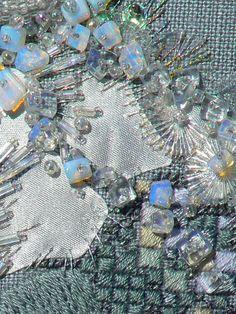 "Carol Walker, Gleam (detail), 6x6"", 2009 #fiber art #embroidery"