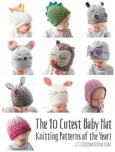 10 Cutest Baby Hat Knitting Patterns of the Year! – Little Red Window 10 Cutest Baby Hat Knitting Patterns of the Year! – Little Red Window,Knit Baby Patterns The 10 Cutest Baby Hat Knitting. Baby Knitting Patterns, Baby Hat Patterns, Baby Hats Knitting, Knitting For Kids, Free Knitting, Knitting Projects, Knitted Baby Hats, Baby Knits, Knit Hats