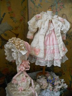 ~~~ Childlike French 4 Piece Bebe Silk Ensemble ~~~ from whendreamscometrue on Ruby Lane