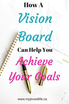 I love vision boards! They keep all my goals visible!!! Click through to learn how to make your own!!! #visionboard #visionboards