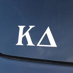 Kappa Delta - Car Decal White Letters
